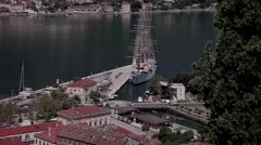 Stock Video Footage Montenegro sailboat yacht Stock Footage