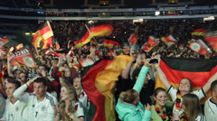 German Football Team Soccer Supporters Celebrating Semifinals Victory World Cup Stock Footage
