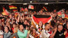 Fans of German Football Team Soccer World Championship Germany Winner Semifinals - stock footage