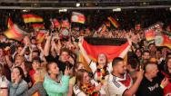 Stock Video Footage of Fans of German Football Team Soccer World Championship Germany Winner Semifinals