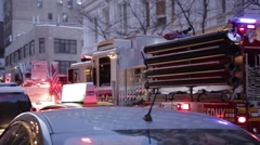 New York  2014 fire engine Stock Footage