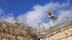 Stock Video Footage of Razor wire and security Prison Jail Gaol, Australia