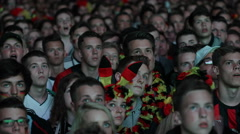 Crowd Happiness Germany People Cheerful Cheering Enthusiastic Audience Football - stock footage