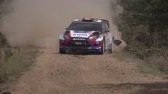 Robert Kubica in slow motion Stock Footage