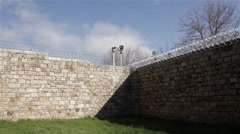 Stock Video Footage of Prison Jail Gaol Razor wire and security, Australia