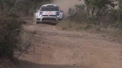 Jari-Matti Latvala in slow motion Stock Footage