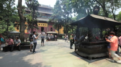 Lingyin Temple China time lapse 1 24 static Stock Footage