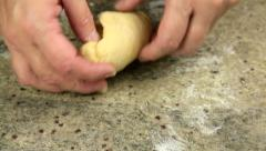 Kneading Dough to Make Pasta Stock Footage