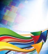 Multi-colored arrows Stock Illustration