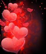 Valentine's day  abstract background Stock Illustration