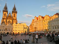 Old Town square in Prague - stock photo