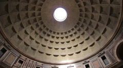 Dome of The Pantheon in Rome - stock footage