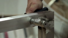Tightening the bolt and nut. Stock Footage