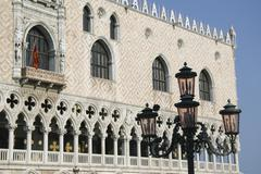 venice, piazza san marco, the doge's palace detail - stock photo