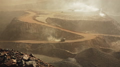 Iron mine in Mauritania Stock Footage