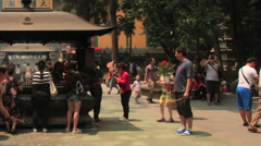 Lingyin Temple time lapse 2 24 pan Stock Footage