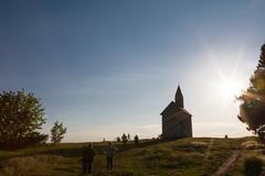 journey of pilgrims - stock photo