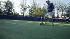 goalkeeper returns the ball - stock footage