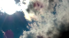 Beautiful Clouds before Storm Stock Footage