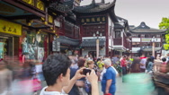 Stock Video Footage of Entrance to Yuyuan Garden turn timelapse 4K