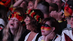 Happy Young Girls Laugh German Football Team Supporters Portrait Flag Paint Face - stock footage