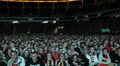 Pan Left Panoramic View People Watching Football Match Germany Team Supporters Footage