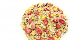 Mixed muesli - stock footage