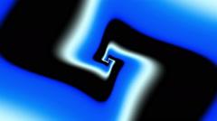 Indian psychedelic Cross Simple Blue - LoopNeo VJ Loops HD 1920X1080 - stock footage