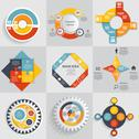 Collection of Infographic Templates for Business Vector  Stock Illustration