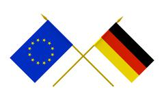 flags, germany and european union - stock illustration