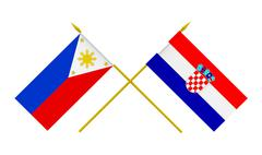 Stock Illustration of flags, croatia and philippines