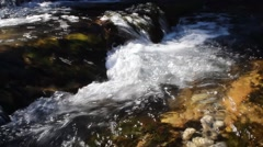 Landscape impression from a waterfall in the austrian mountains detail Stock Footage