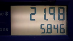 Fuel Prices, Gas Pump, Energy, Numbers Stock Footage