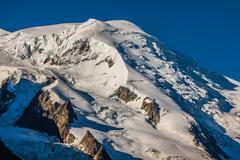 mont blanc, mont blanc massif, chamonix, alps, france - stock photo