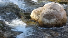waterfall in the austrian mountains on ahornboden - stock footage