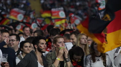 German Football Team Young Fans Enjoy Semifinal Germany Brasil World Cup 2014 Stock Footage