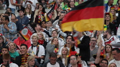 Affective Emotive Emotional Crowd Fans German Team Supporters Brasil World Cup Stock Footage