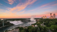 Stock Video Footage of Niagara Falls at Sunrise
