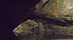 Tracking shot of leaving cave system in czech republic Stock Footage