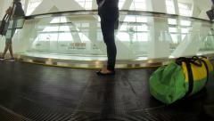 KUALA LUMPUR, Moving sidewalk at KLIA 2 terminal. Stock Footage