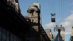 Roosevelt Island Cable Car, New York Stock Footage