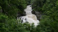 Cullasaja Falls, Nantahala National Forest, North Carolina 1080p Stock Footage