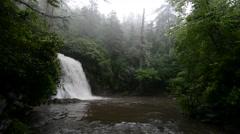 Silver Run Falls, Nantahala National Forest, North Carolina 1080p Stock Footage