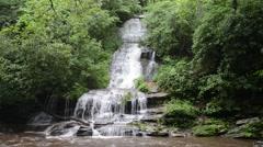 Toms Branch Falls, Great Smokey Mountains National Park, North Carolina 1080p Stock Footage