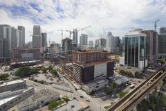 Aerial photo brickell city center Stock Photos