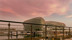 Yas Viceroy Hotel Stock Footage