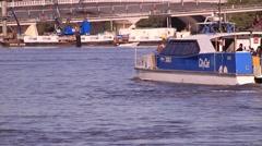 Public Ferry in Brisbane River Stock Footage