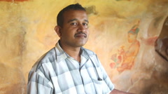 Local man working in Sigiriya. Stock Footage