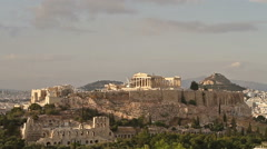 Parthenon temple on Athenian Acropolis, Athens, Greece Stock Footage