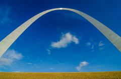Gateway arch sculpture in st louis missouri Stock Photos